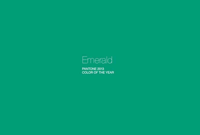 Pantone 2013 Color of the Year Emerald