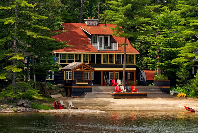 Buy a lake home or cabin