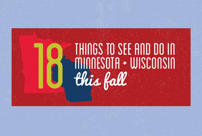 18 fall activities in Minnesota and Wisconsin