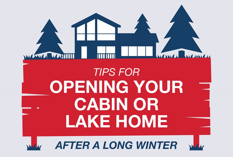 opening our cabin or lake home