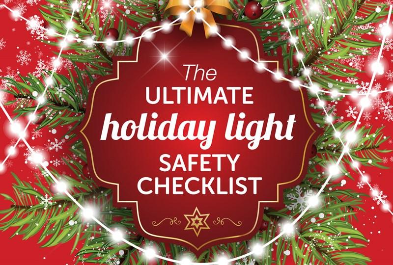 Holiday lights safety checklist