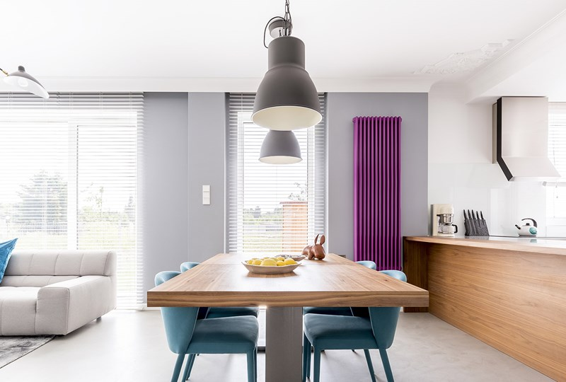 Ultra violet dining room
