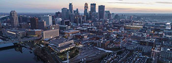 Aerial view from the North Loop in Minneapolis