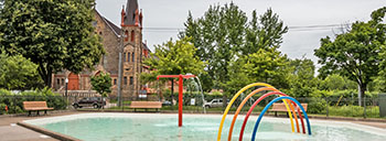 Phillips park splash pad