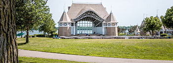 Bandshell on the lake in Southwest Minneapolis