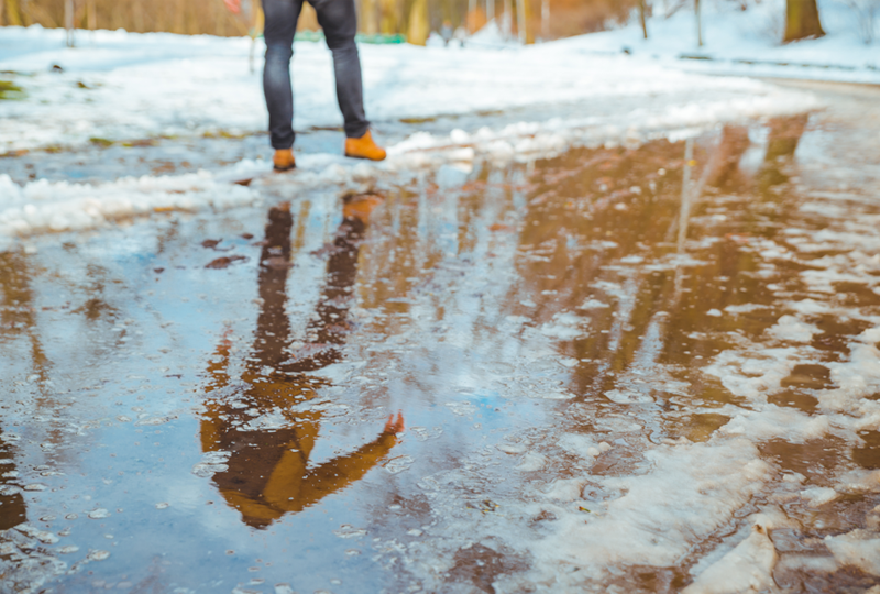 Prevent flooding and water damage from snow.
