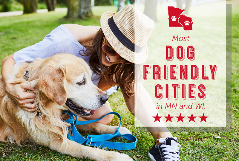 Most dog-friendly cities in MN and WI