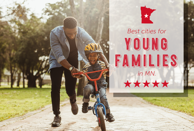 Best cities for young families in MN
