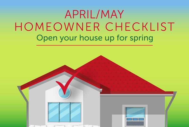 Spring homeowner checklist